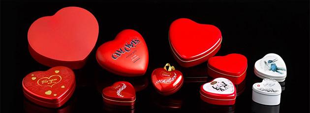 Boîtes en métal Cœur