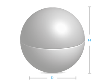 boite metal aluminium fabrication forme boule