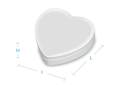 boite metal aluminium fabrication forme coeur
