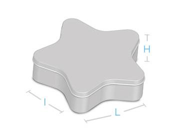 boite metal aluminium fabrication forme étoile