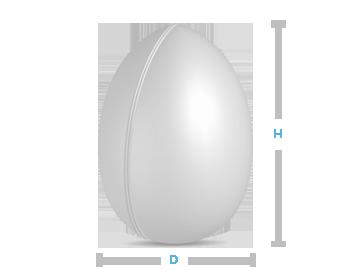 boite metal aluminium fabrication forme oeuf