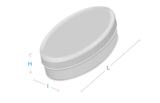 boite metal aluminium fabrication forme ovale