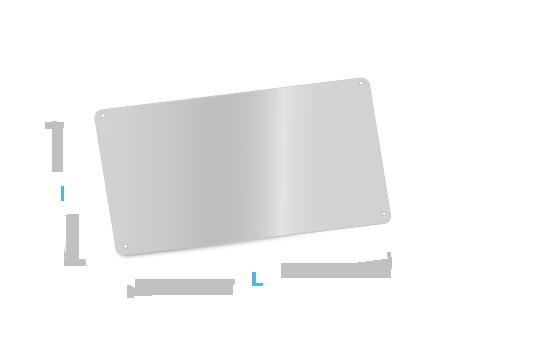 metal aluminium fabrication forme plaque