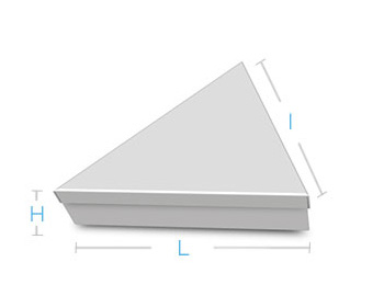 boite metal aluminium fabrication forme triangulaire